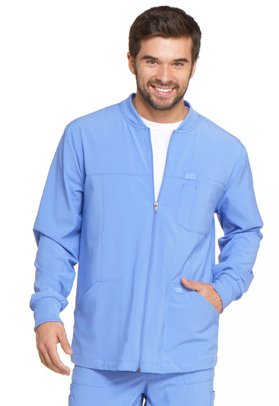 EDS Essentials Men's Men's Zip Front Warm-Up Jacket Blue