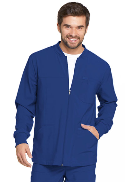 Every Day EDS Essentials Men Men's Zip Front Warm-Up Jacket Blue