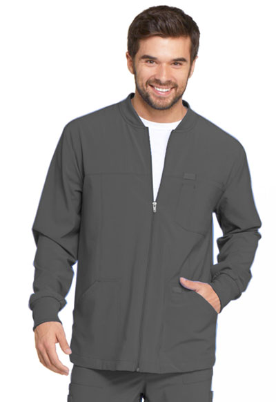 Every Day EDS Essentials Men's Men's Zip Front Warm-Up Jacket Gray