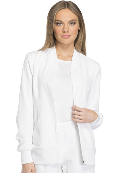 Dynamix Women's Zip Front Warm-up Jacket White