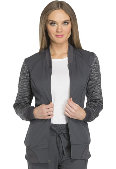 Dynamix Women's Zip Front Warm-up Jacket Gray