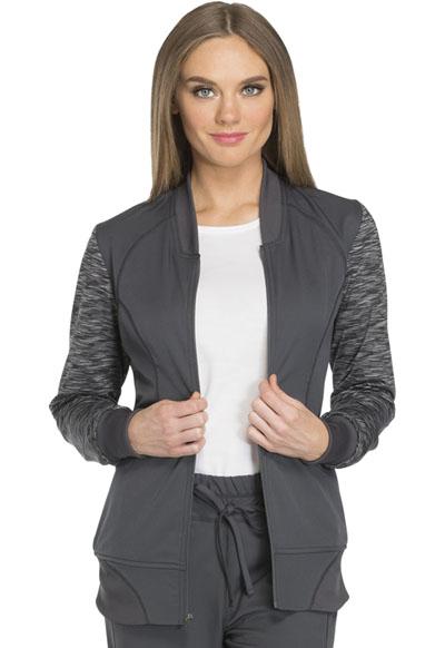 Dickies Dynamix Women's Zip Front Warm-up Jacket Gray
