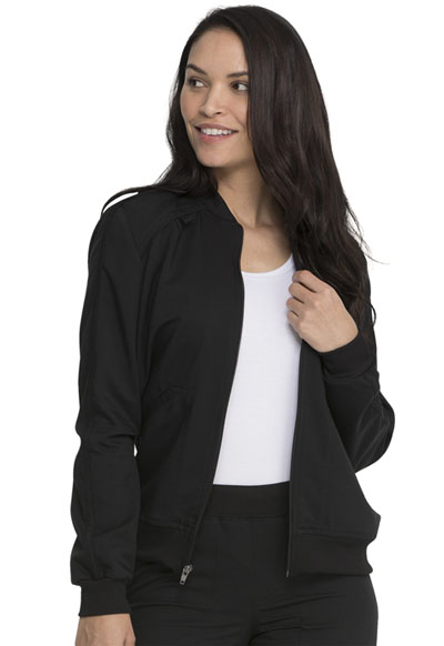 Dickies Balance Women Zip Front Jacket Black