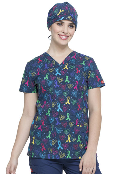 Dickies Prints Unisex Scrubs Hat Love For All