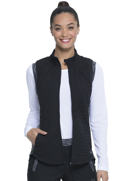 Dickies Dynamix Women Quilted Zip Front Vest Black