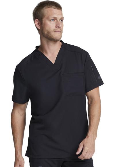 280615a27b7 Dynamix Men's V-Neck Top in Black DK610-BLK from Cedar Park Medical ...