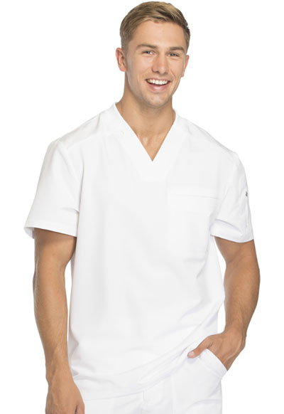 Dynamix Men's Men's V-Neck Top White