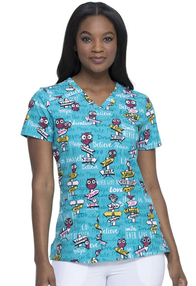 Dickies Prints Women V-Neck Top It Was Owl A Dream