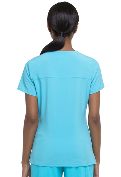 fa48da3bd18 Dickies EDS Essentials Mock Wrap Top in Turquoise from Dickies Medical
