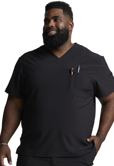 EDS Essentials Men's Men's V-Neck Top Black