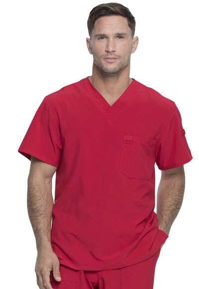 Every Day EDS Essentials Men's Men's V-Neck Top Red