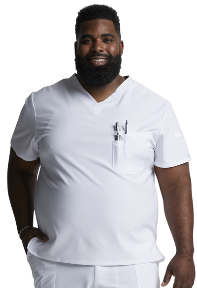 EDS Essentials Men's Men's V-Neck Top White