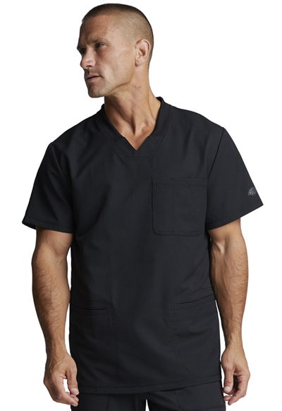 Dynamix Men's Men's V-Neck Top Black