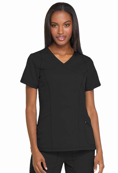 Dickies Dynamix Women Mock Wrap Top Black