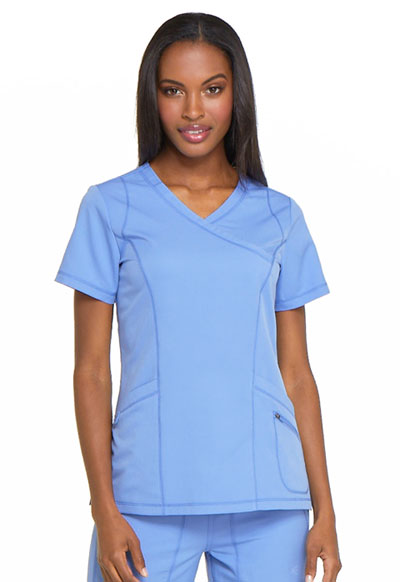 Dickies Dynamix Women Mock Wrap Top Blue