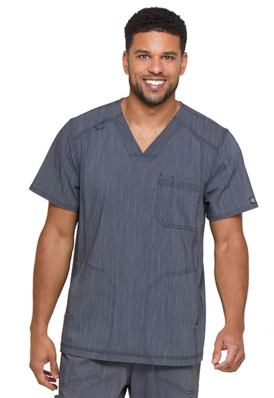 Advance Men's Men's V-Neck 3 Pocket Top Pewter Twist