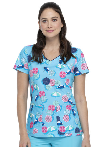 Dickies Prints Women V-Neck Top Made In The Shade