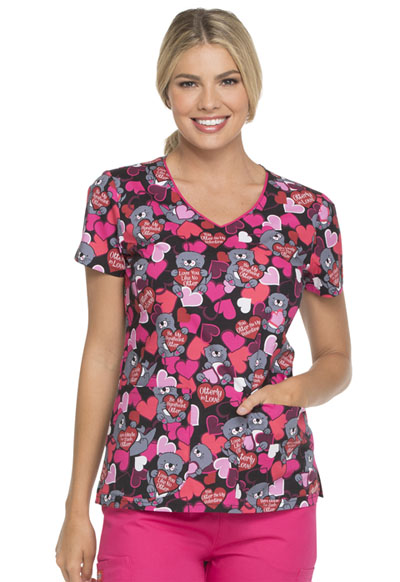 Dickies Prints Women's V-Neck Top Made For Each Otter