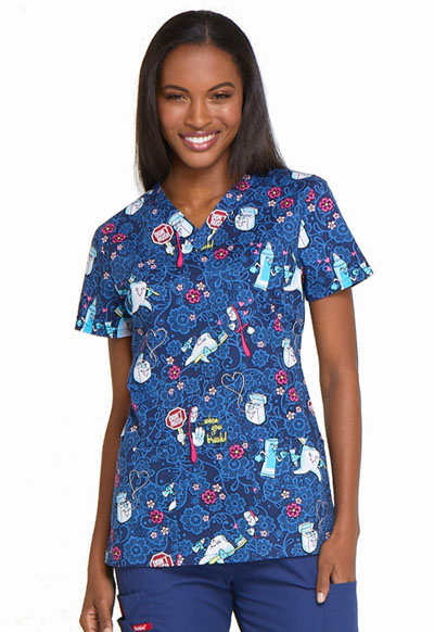 Dickies Prints Women's V-Neck Top Don't Rush