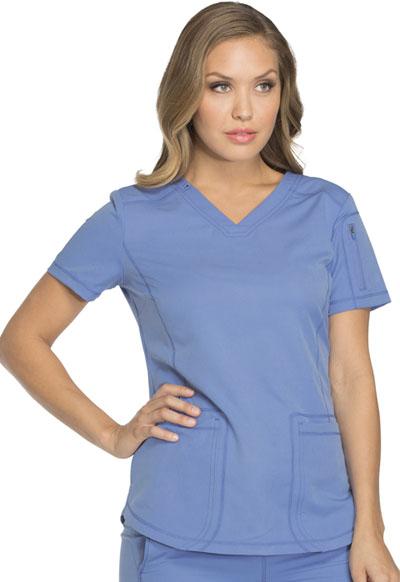 005ec611510 Dickies Dynamix V-Neck Top in Ciel Blue from Dickies Medical