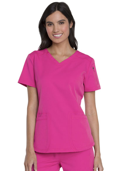 Dickies Dynamix Women V-Neck Top Pink