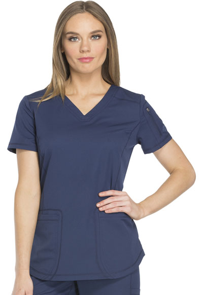 Dickies Dynamix Women V-Neck Top Blue
