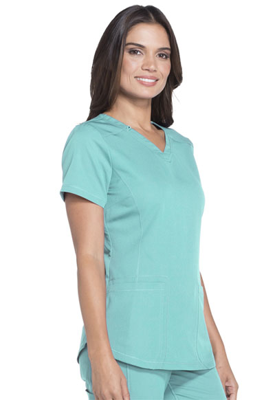 4f8ec4feb32 Dickies Dynamix V-Neck Top in Tropical Oasis from Dickies Medical