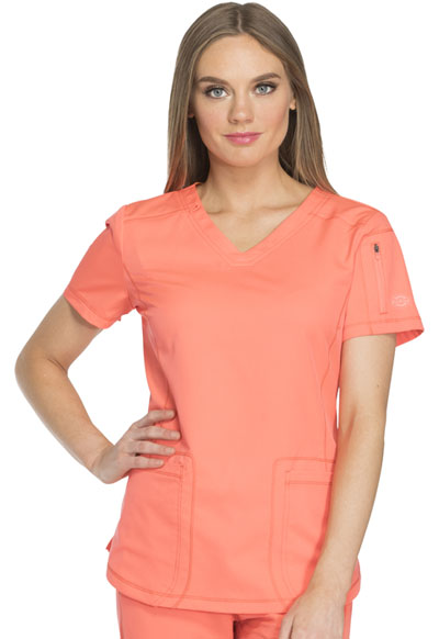 Dynamix Women's V-Neck Top Orange