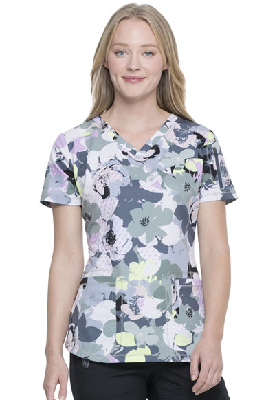 Dickies Dynamix Women's V-Neck Top Garden Geo