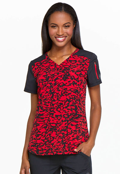 Dynamix Women's V-Neck Top Marker My Day
