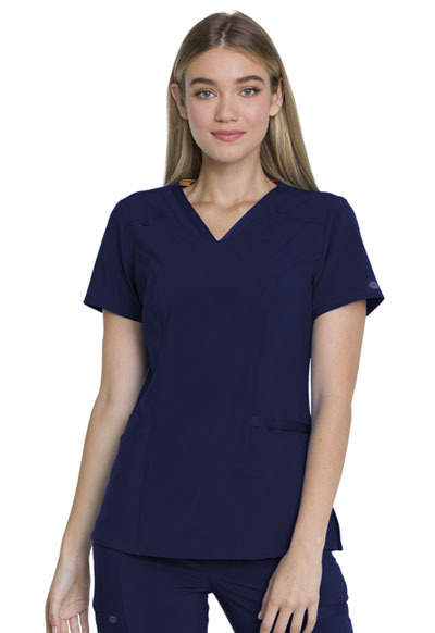 EDS Essentials Women's V-Neck Top Blue