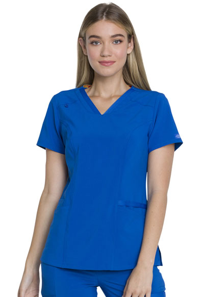 Every Day EDS Essentials Women's V-Neck Top Blue