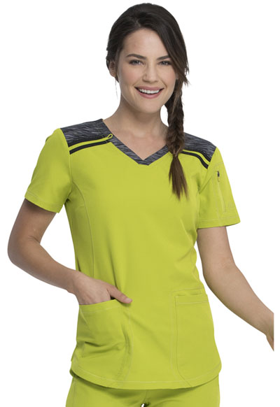 Dickies Dynamix Women V-Neck Top Green