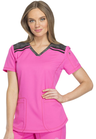 Dynamix Women's V-Neck Top Pink