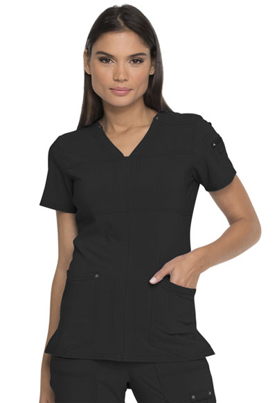 Advance Women's V-Neck Top Black