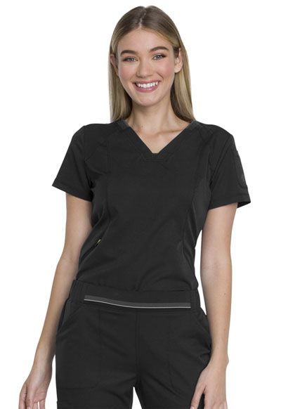 Dickies Dynamix Women's V-Neck Top Black