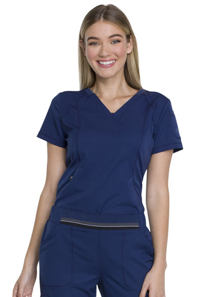 Dickies Dynamix Women's V-Neck Top Blue