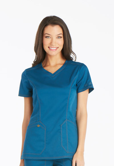 Essence Women V-Neck Top Blue