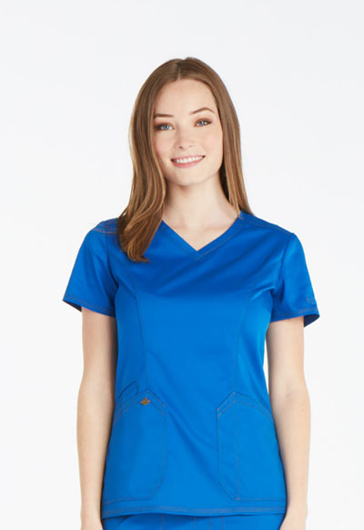 Dickies Essence Women's V-Neck Top Blue