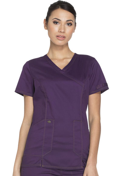 Dickies Essence Women's Mock Wrap Top Purple