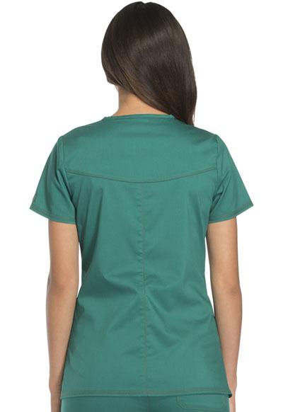 9127fb05b78 Essence Mock Wrap Top in Hunter Green DK804-HUN from Uniform Center