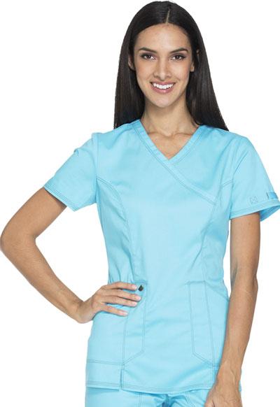 Dickies Essence Women's Mock Wrap Top Blue