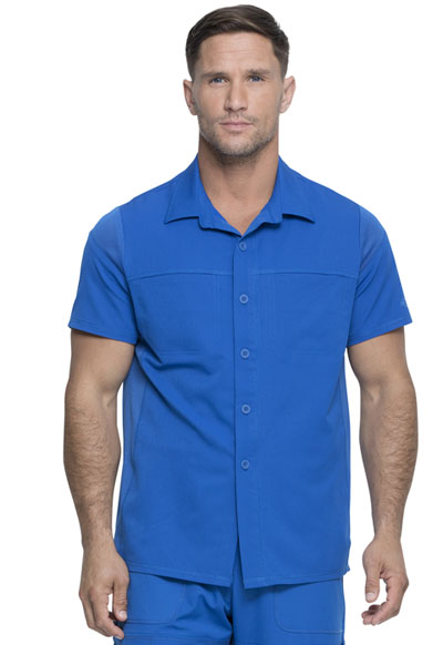 Dickies Dynamix Men Men's Button Front Collar Shirt Blue