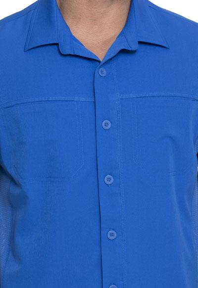 Royal Dickies Scrubs Dynamix Mens Front Collar Shirt DK820 ROY