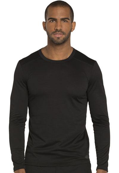Dickies Dynamix Men's Men's Long Sleeve Underscrub Knit Top Black
