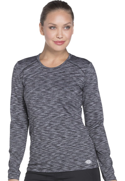 Dickies Dynamix Women Underscrub Long Sleeve Knit Tee Black