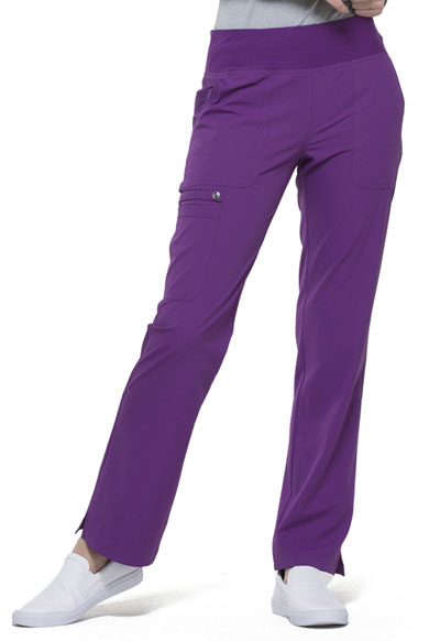 Simply Polished Women Mid Rise Straight Leg Pull-on Pant Purple