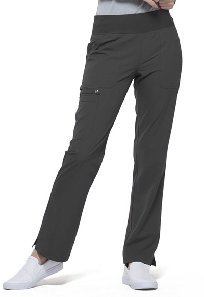 Simply Polished Women's Mid Rise Straight Leg Pull-on Pant Gray