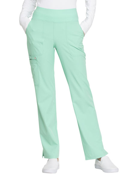Simply Polished Women's Mid Rise Straight Leg Pull-on Pant Green