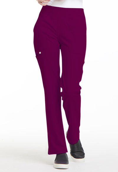 Simply Polished Women's Mid Rise Straight Leg Pull-on Pant Red